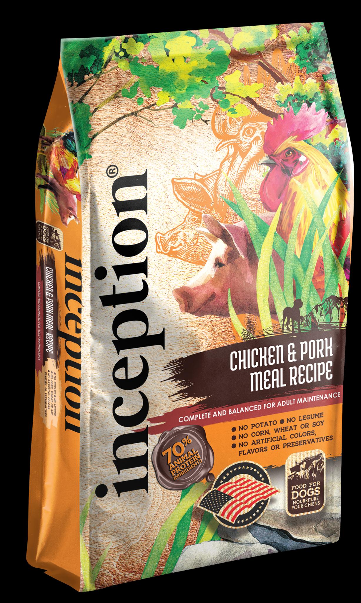 Inception Inception Chicken & Pork Dry Dog Food - 27lbs