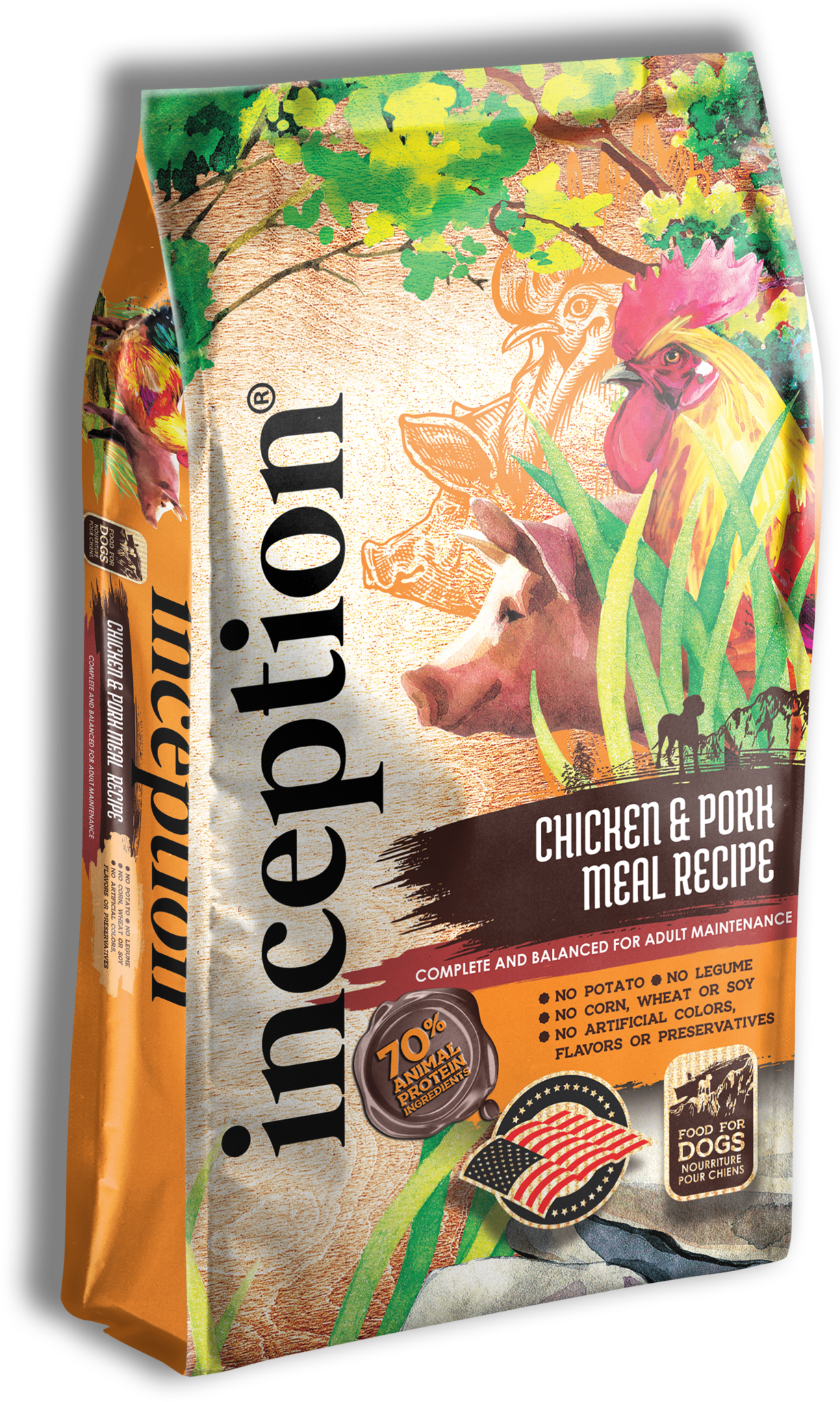 PETS GLOBAL Inception Chicken & Pork Dry Dog Food - 27lbs