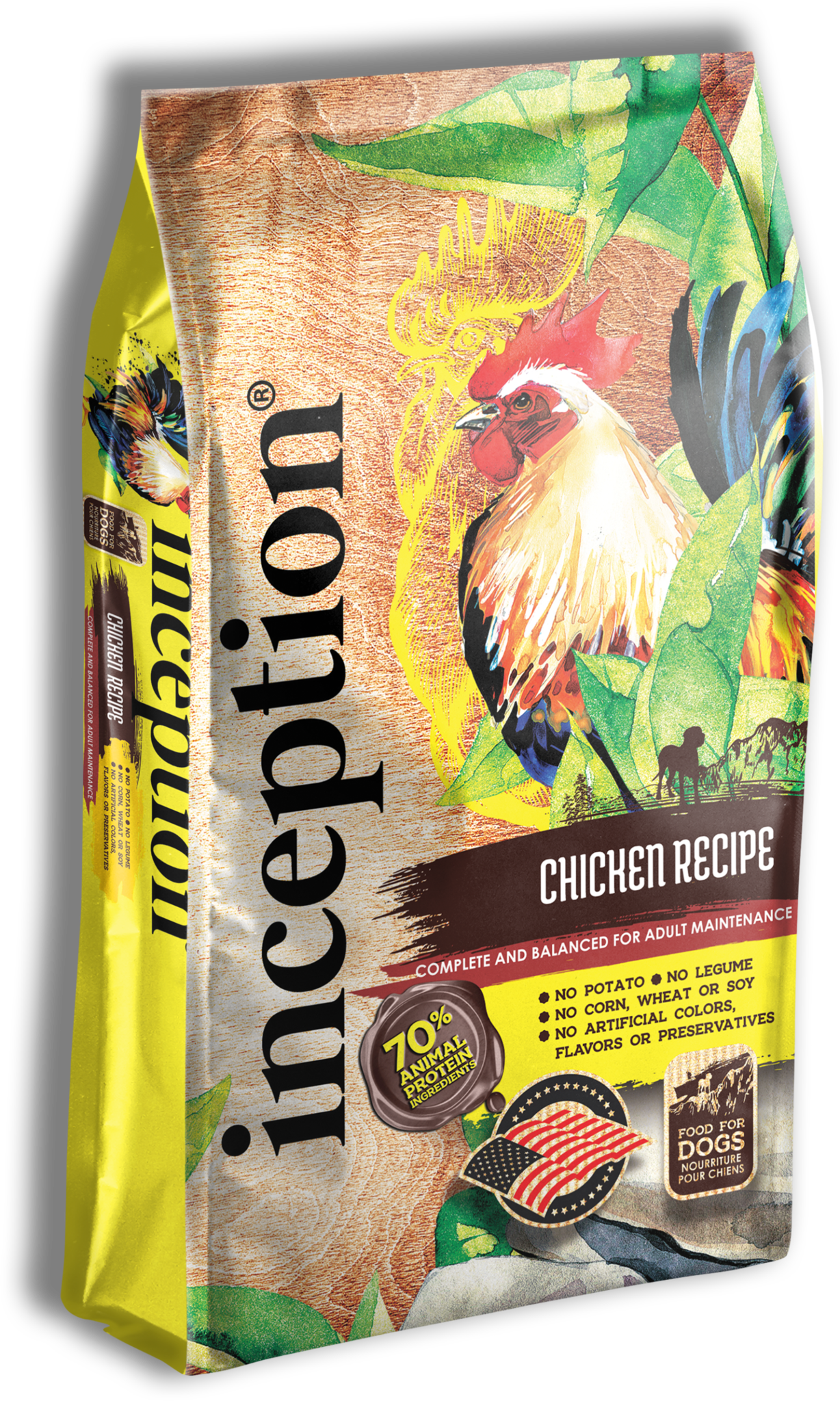 PETS GLOBAL Inception Chicken Dry Dog Food - 27lb
