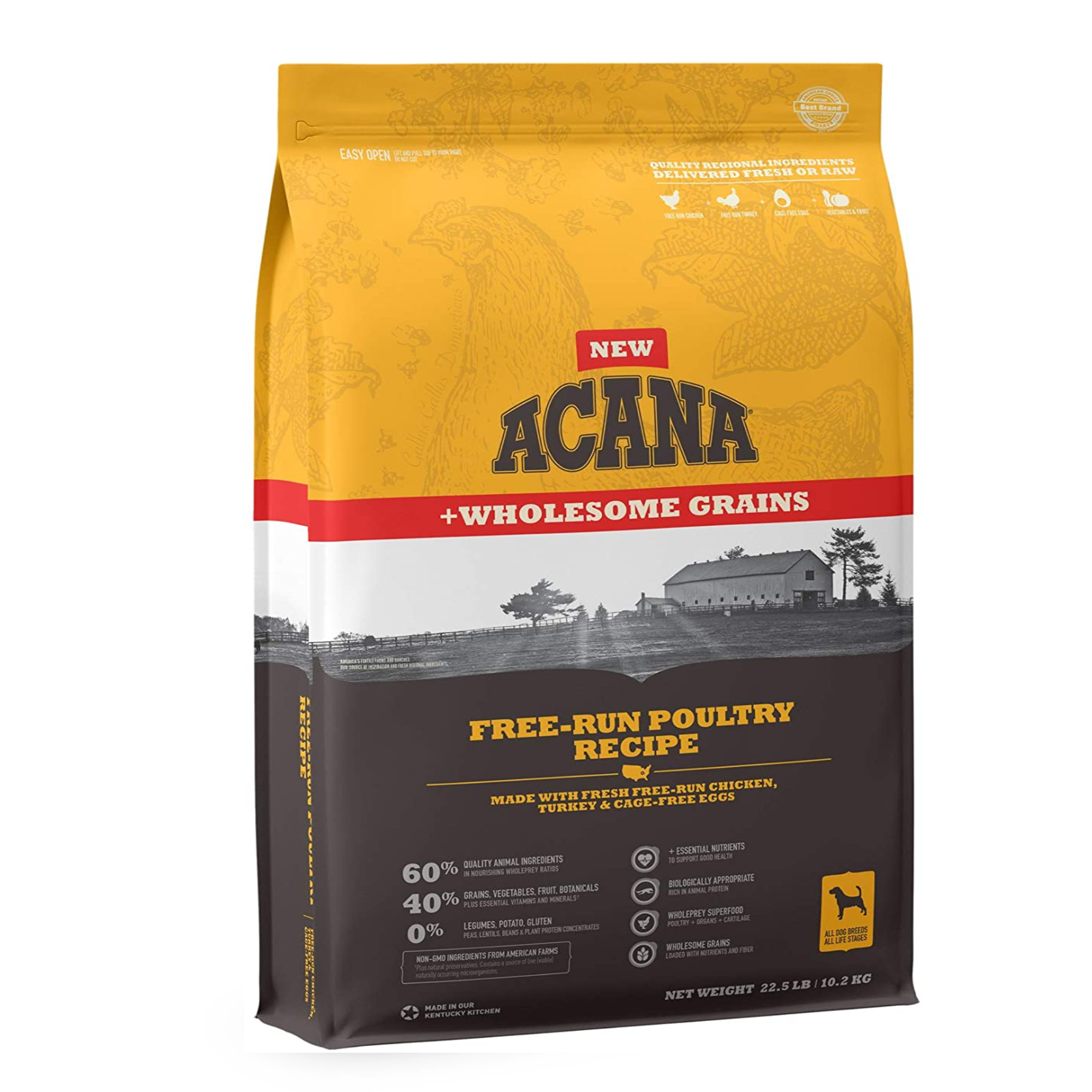 Acana Free-Run Poultry Wholesome Grains Dog Food