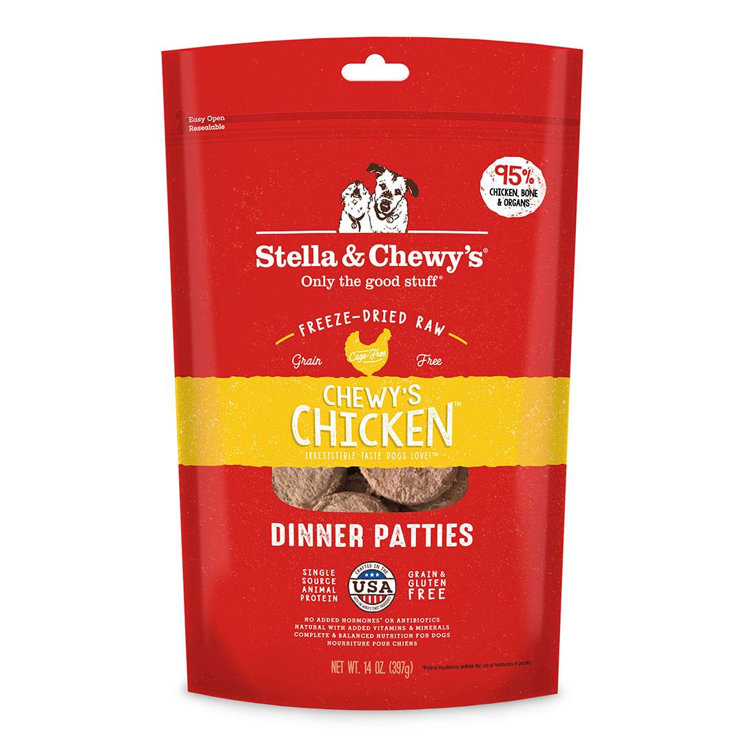 STELLA & CHEWY'S Chicken Freeze Dried Dinner Patties Dog Food