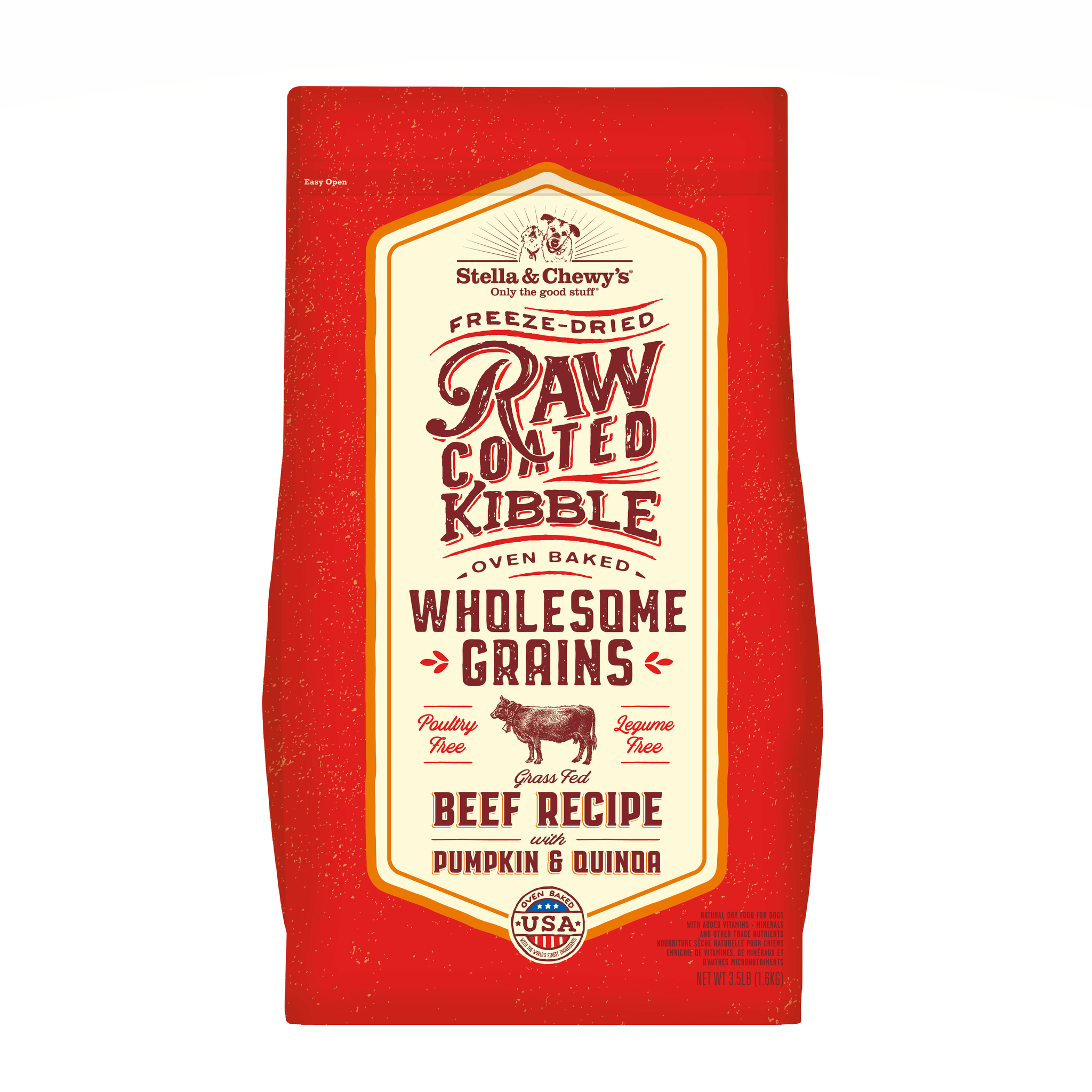 STELLA & CHEWY'S Raw Coated Beef , Pumpkin & Quinoa Dog Food