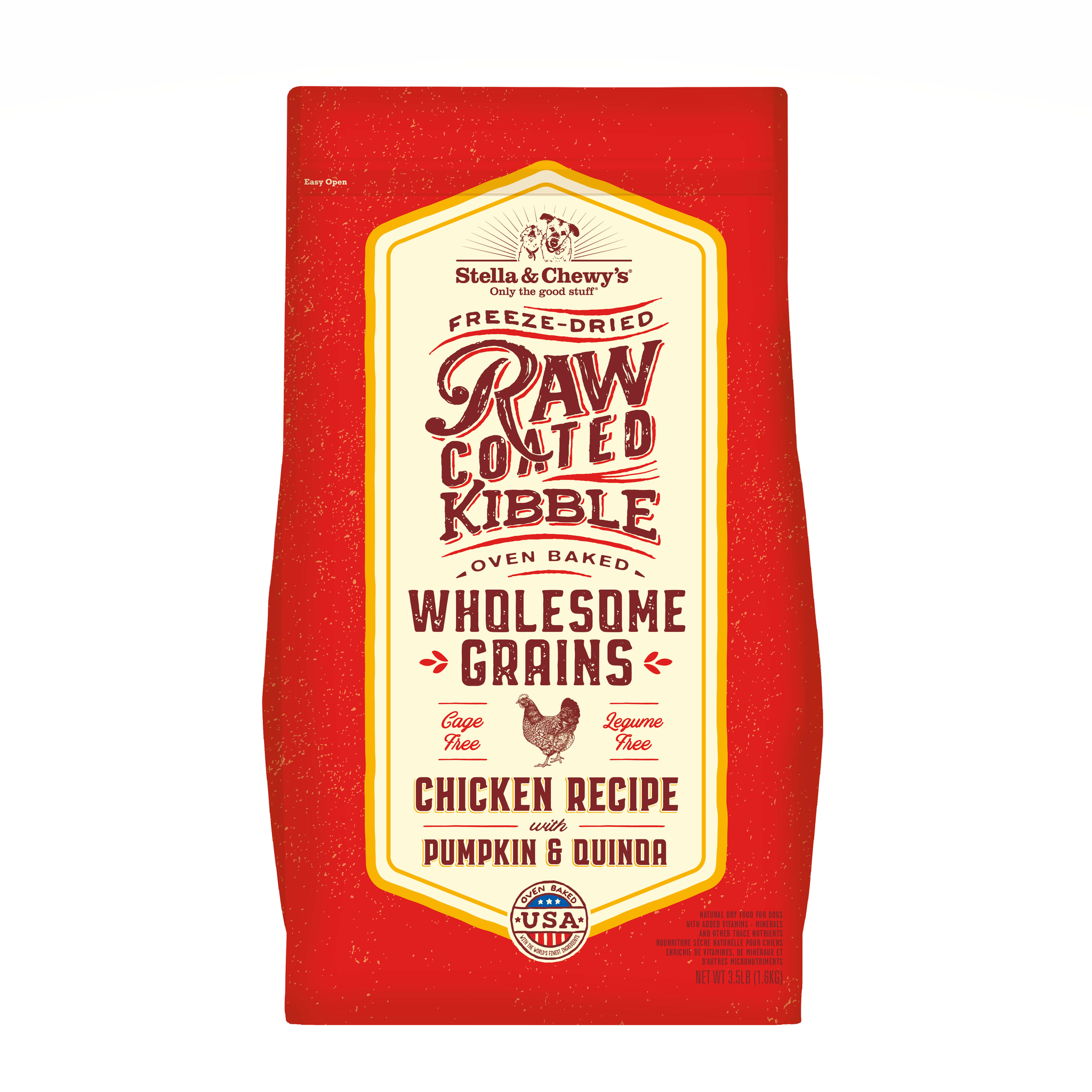 STELLA & CHEWY'S Raw Coated Chicken , Pumpkin & Quinoa Dog Food