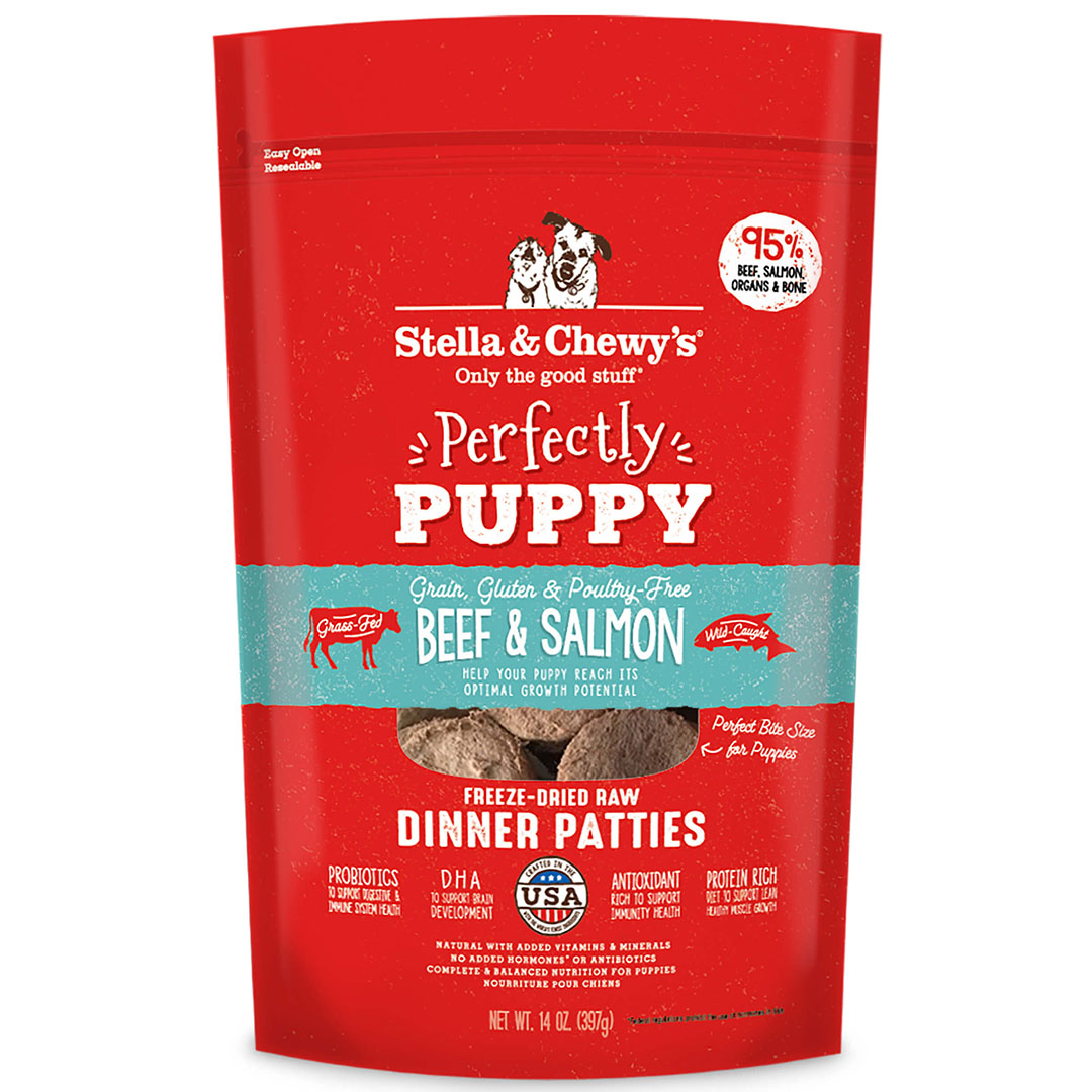 STELLA & CHEWY'S Puppy Beef & Salmon Freeze Dried Dinner Patties