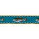 PRESTON Teal Striper Fish Dog Collar
