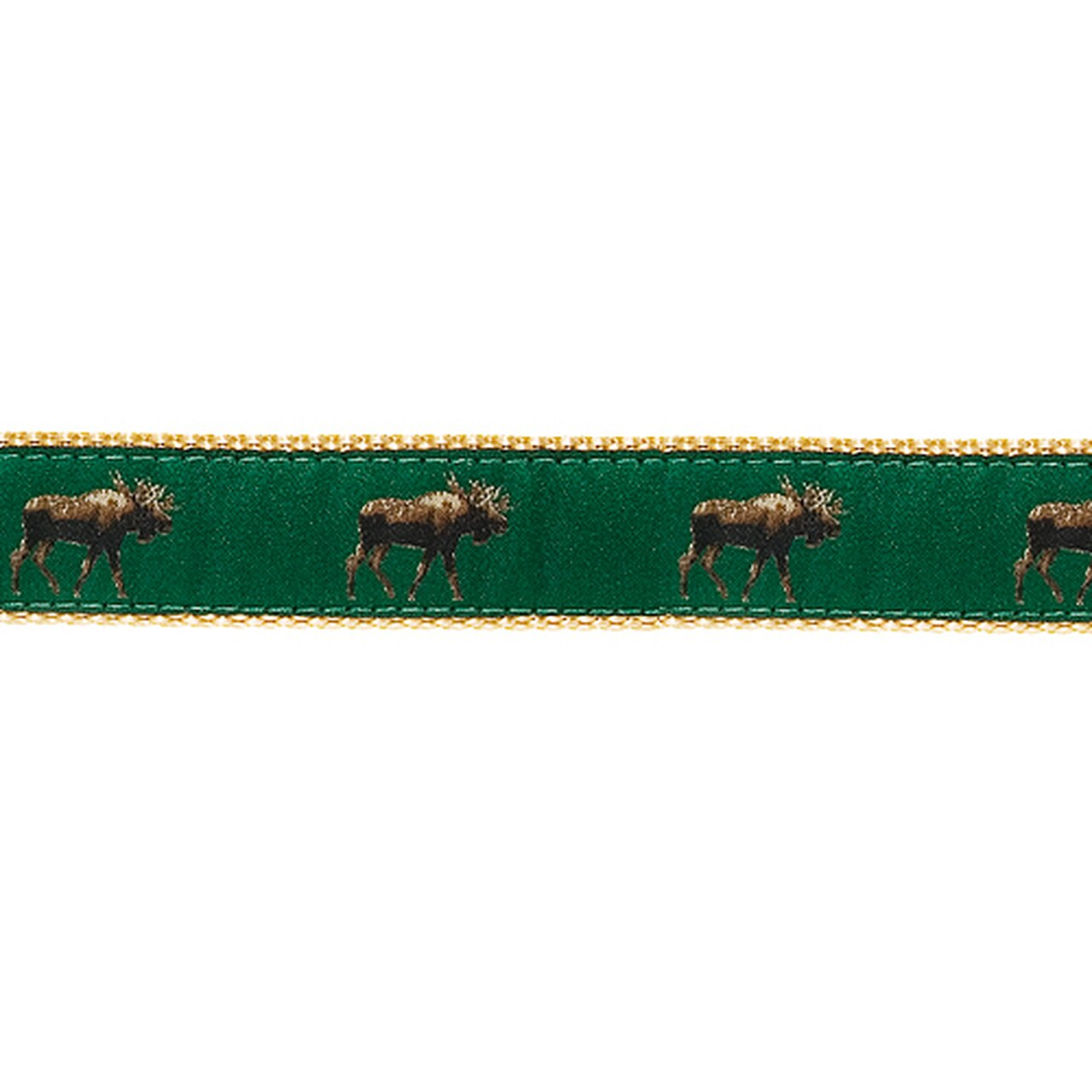 PRESTON Green Moose Dog Collar