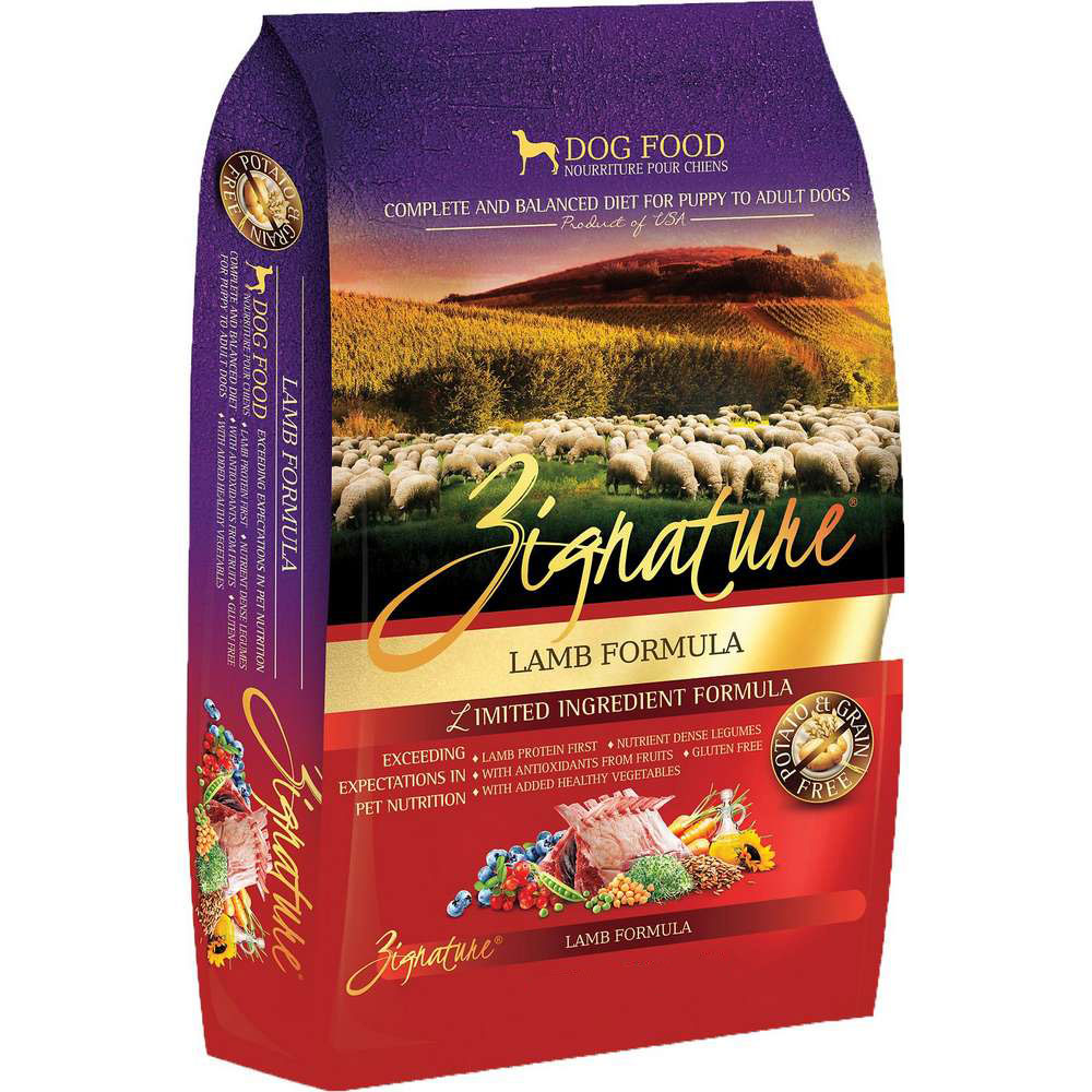 Zignature Lamb GF Dog Food