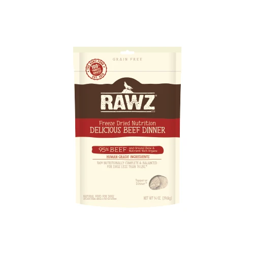 RAWZ Freeze Dried Beef Dinner Dog Food