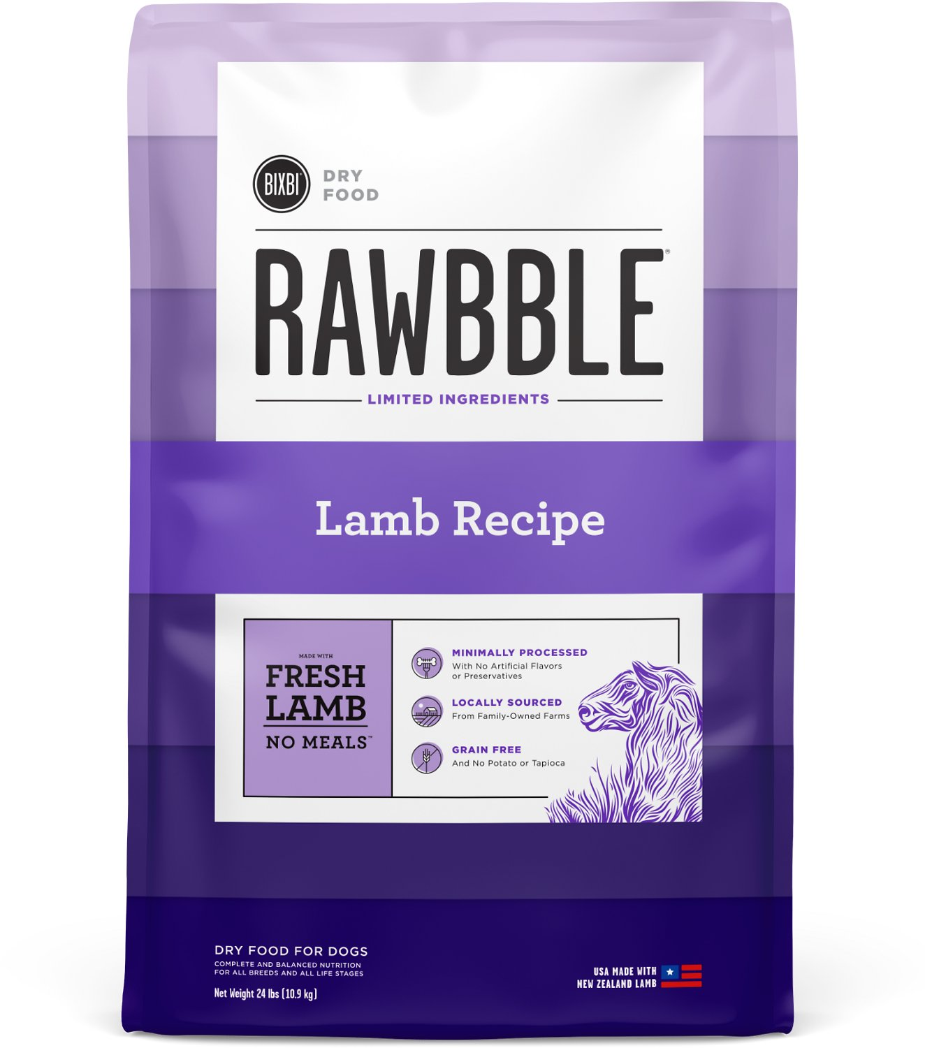 RAWBBLE Lamb GF Dog Food