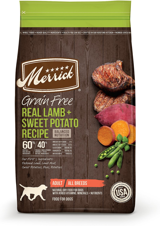 Merrick Real Lamb & Sweet Potato GF Dog Food