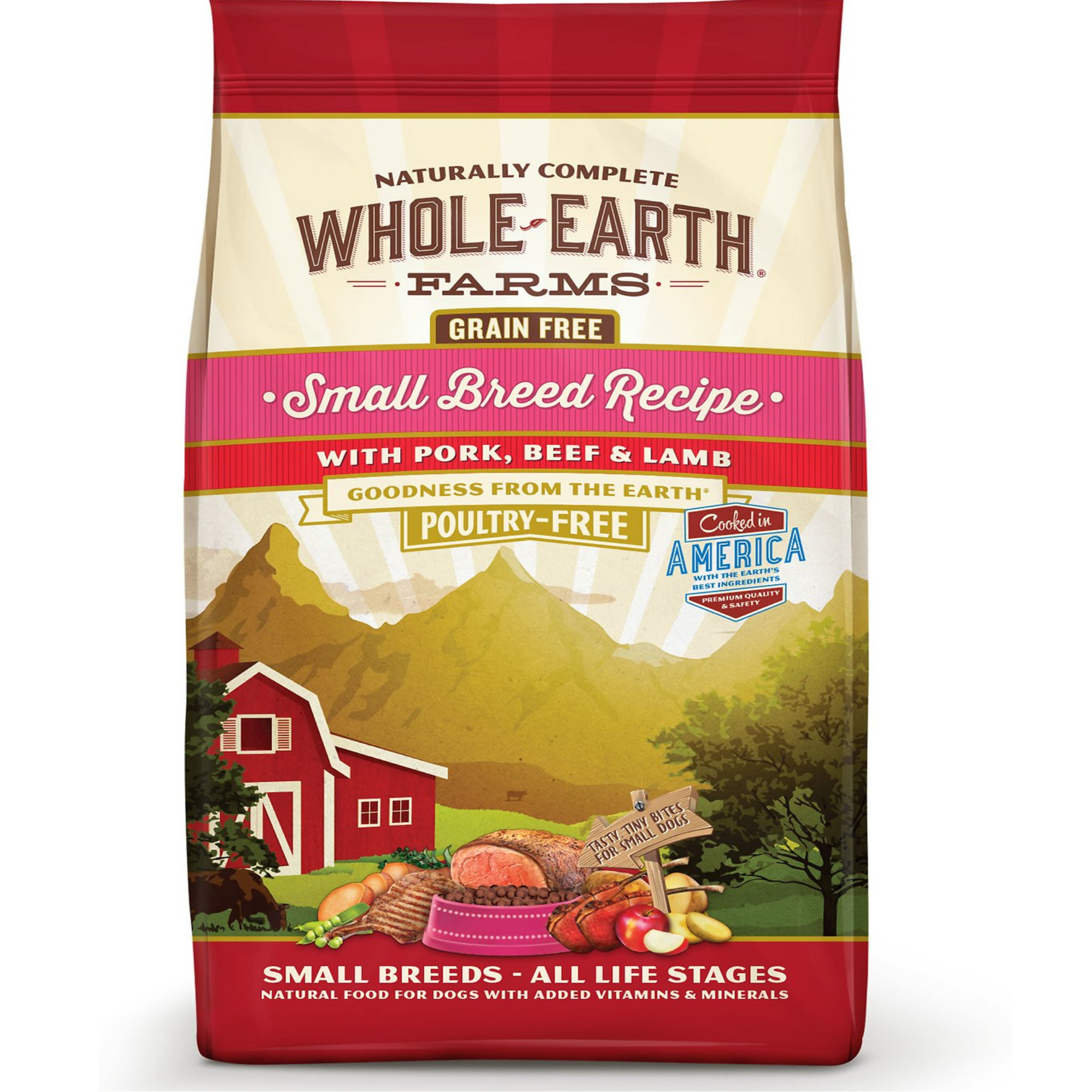 Whole Earth Farms Small Breeds-All Life Stages Pork,Beef &Lamb Dog Food