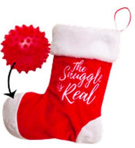 SNUGAROOZ SNUG HOL HIDE/SQK STOCKING W/BALL