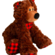 SNUGAROOZ SNUGZ BENNY THE BEAR 8IN BRWN