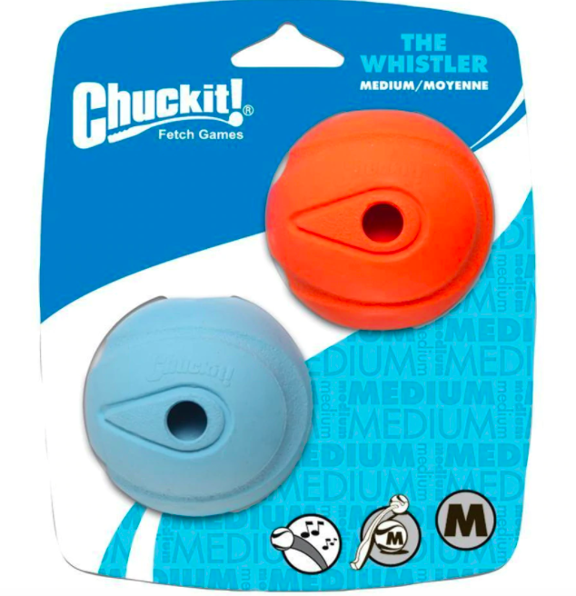 Chuckit! CHUCKIT! WHISTLE BALL 2.5IN 2 PK
