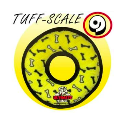 TUFFY'S DOG TOYS TUFFY ULT YLW BNE RING