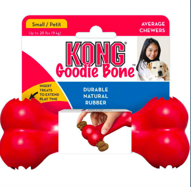 KONG Goodie Bone Natural Rubber