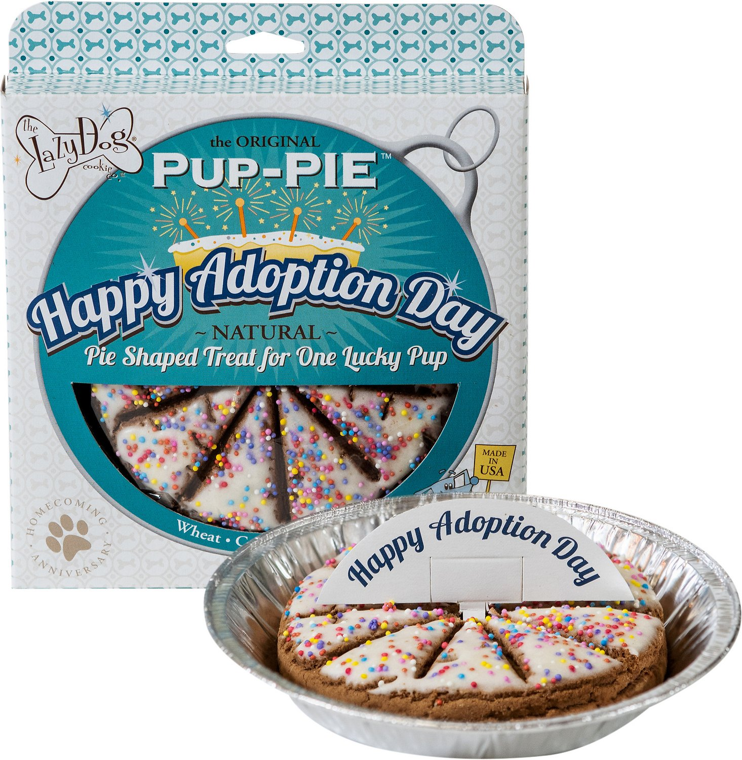 "Lazy Dog Cookie Co. Lazy Dog ""Happy Adoption"" dog treats"