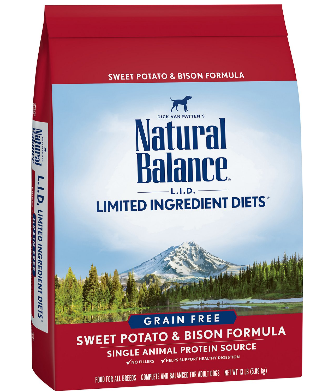 NATURAL BALANCE Sweet Potato & Bison Formula GF Dog Food