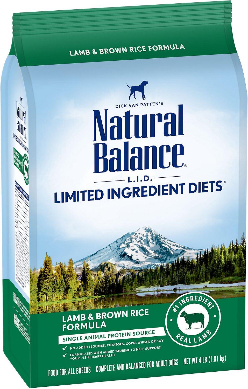 NATURAL BALANCE Lamb Meal & Brown Rice Dog Food