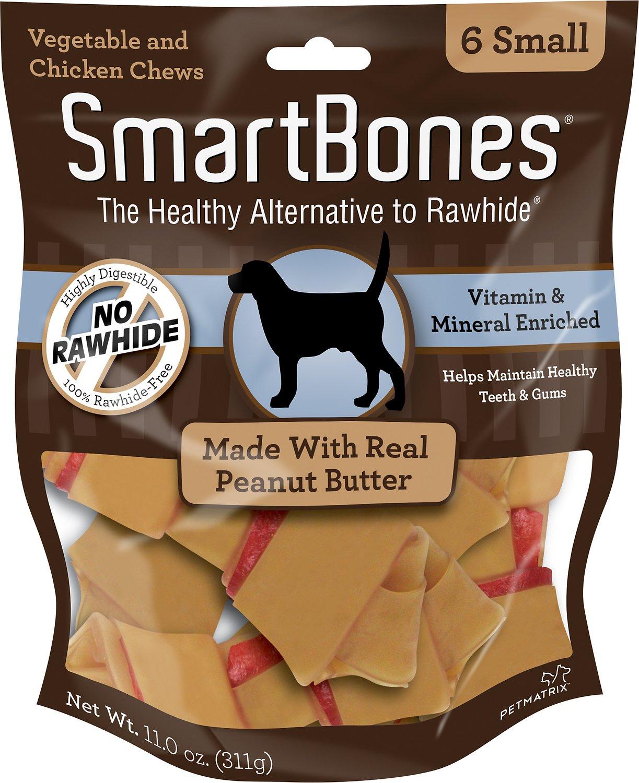 Smart Bones No Rawhide  Vitamin & Mineral Peanut Butter Bone