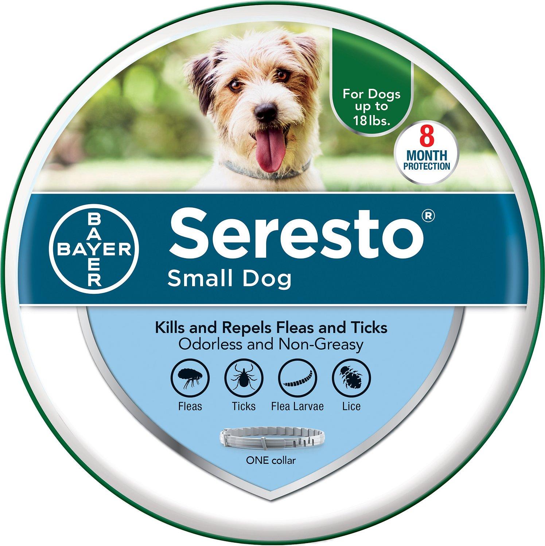Seresto Small Dog Tick/Flea Odorless Non-Greasy Collar
