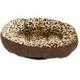 PETMATE ROUND BOLSTER BED ANIMAL PRINT