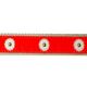 PRESTON Orange Daisy Dog Collar