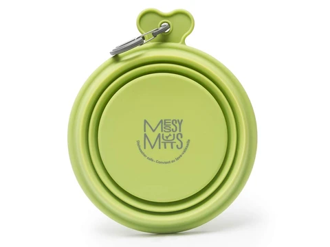 Messy Mutts Green Collapsible Bowl Large