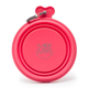 Messy Mutts Red Silicone Collapsible Bowl  Small