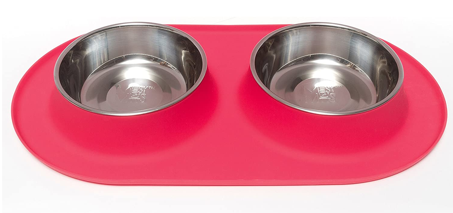 Messy Mutts Red Double Feeder 3 Cup