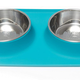 Messy Mutts Blue Double Feeder 3 Cup