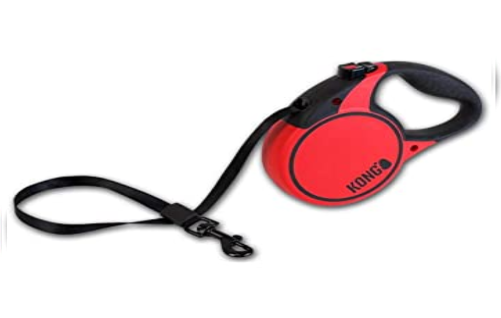 KONG Large Terrain Retractable Leash Red