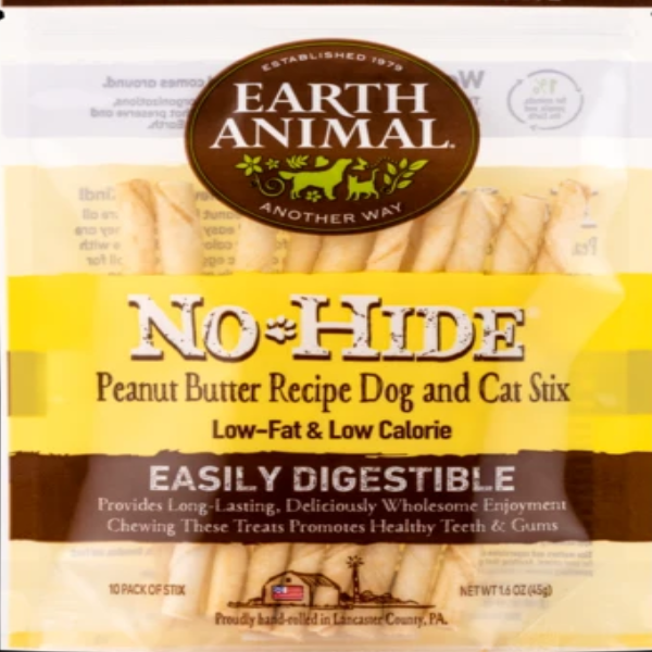 EARTH ANIMAL No Hide Peanut Butter Dog Stix
