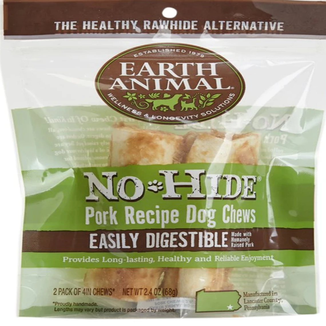 EARTH ANIMAL No Hide Pork Dog Stix
