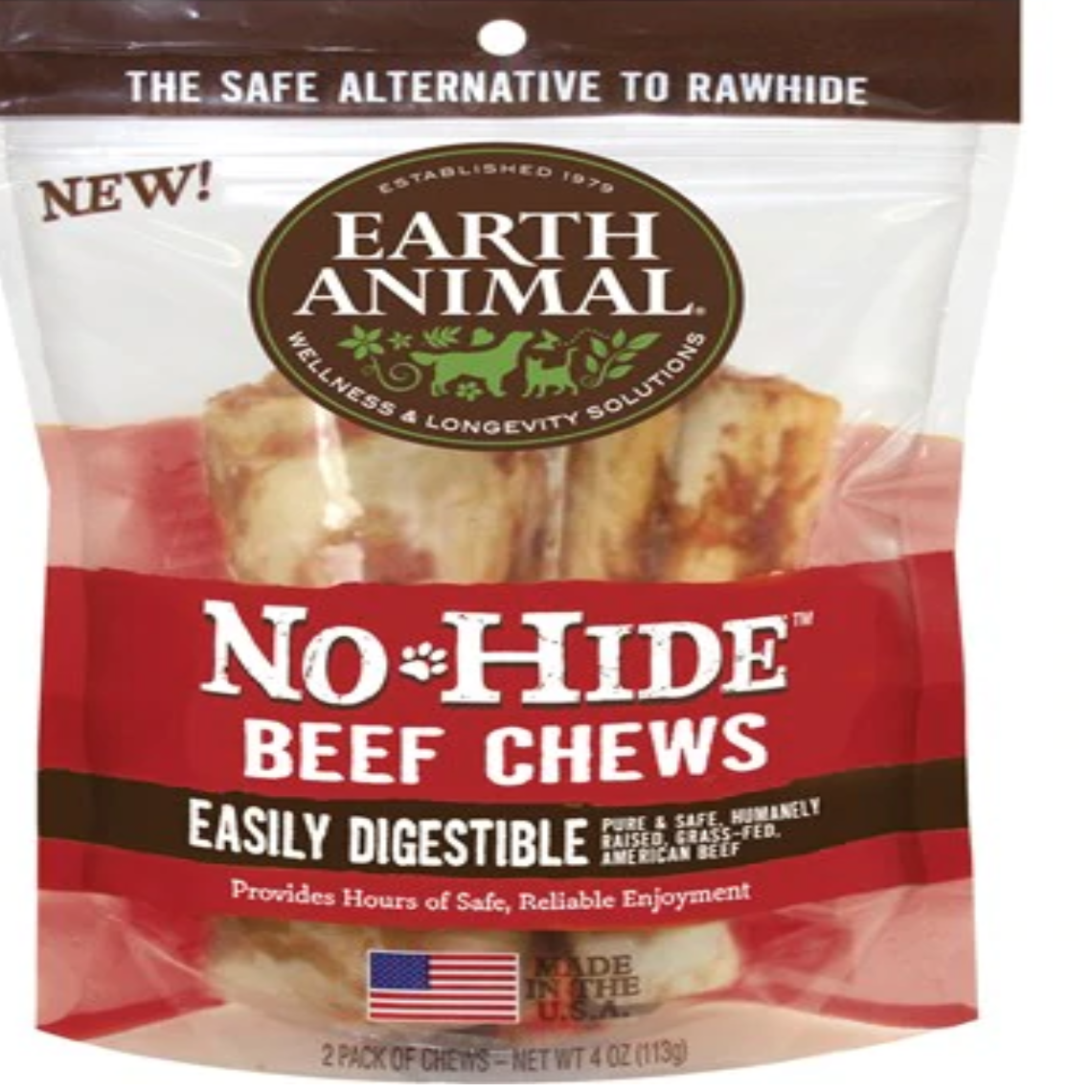 EARTH ANIMAL No Hide Beef Dog Stix