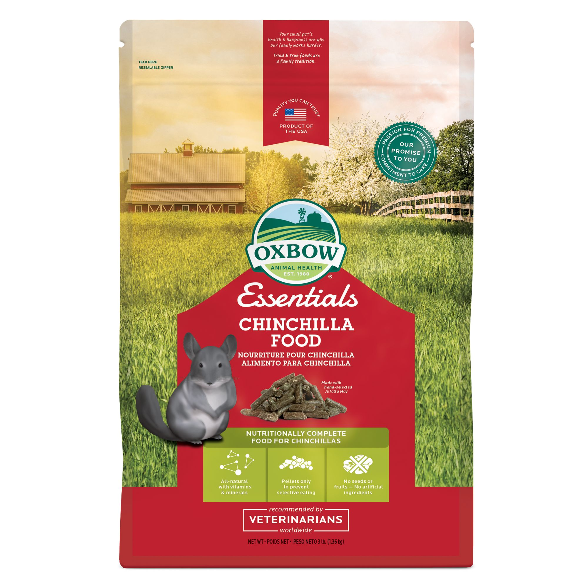 OXBOW PET PRODUCTS Essentials Chinchilla Food