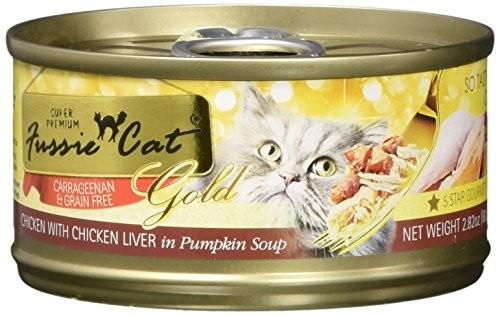 Fussie Cat Chicken & Chicken Liver In Pumpkin Soup  2.8 oz