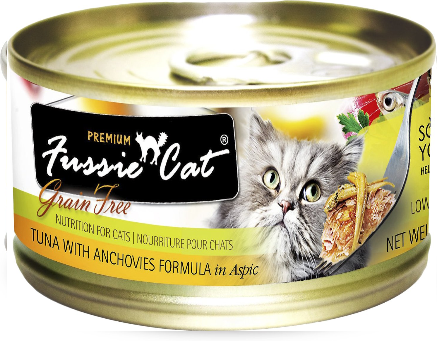 Fussie Cat Tuna With Anchovies Formula 2.8 oz