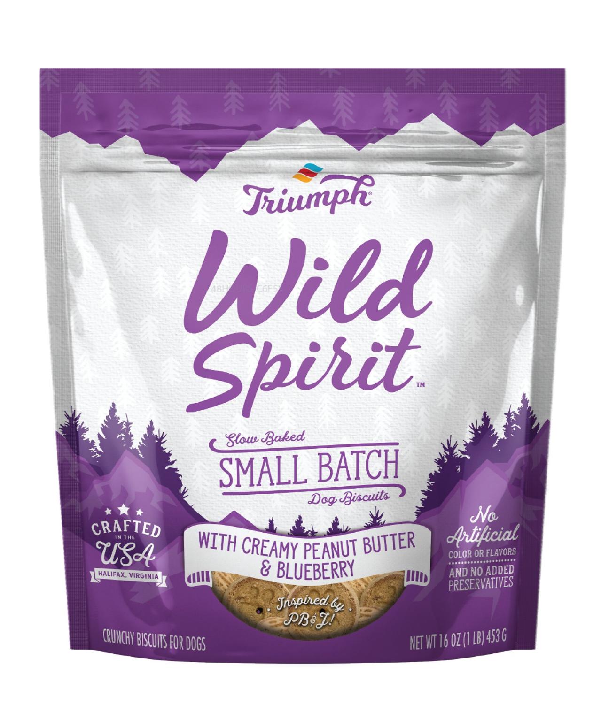 TRIUMPH PET INDUSTRIES Wild spirit Peanut Butter and Blueberry Dog Treats