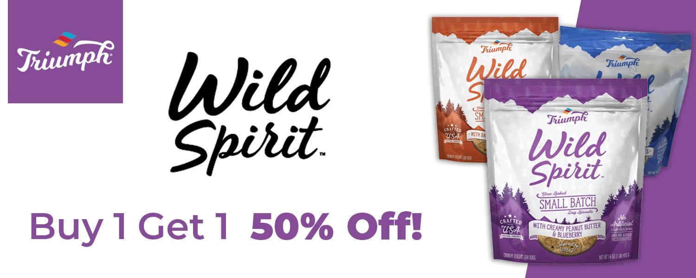 Triumph Wild Spirit Dog Treats. Buy 1 get 1 50% off