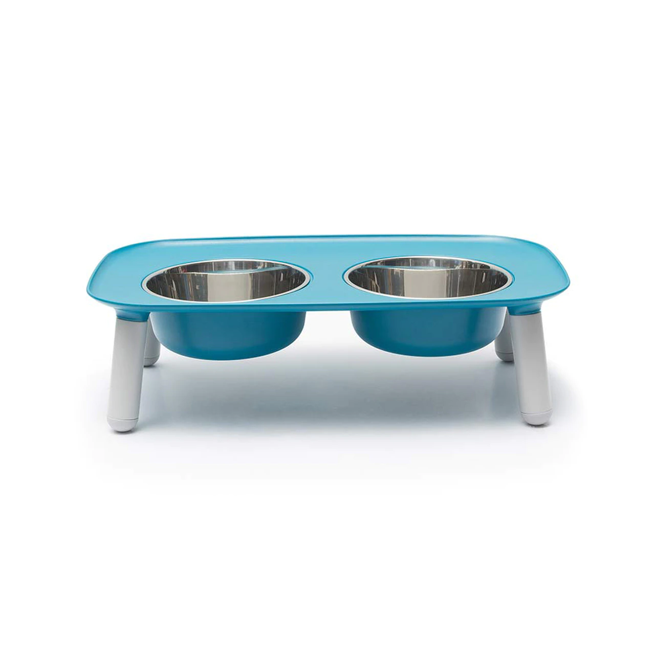 """Messy Mutts Elevated Double Feeder with Stainless Bowls, Adjustable Height 3"""" to 10"""""""