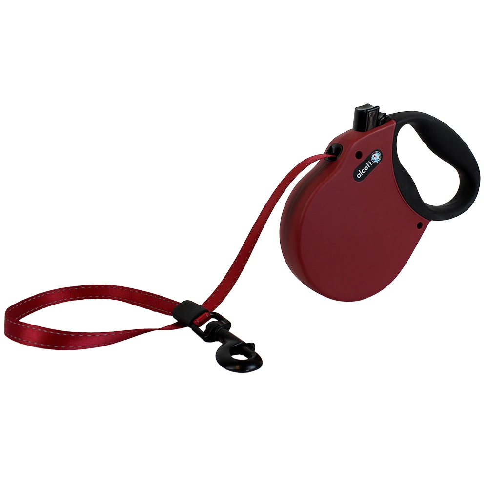 Alcott Retractable Leash Red Small (Up To 45 Lbs)