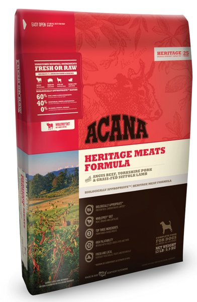 Champion Pet Foods Acana Heritage Meat 13lb Grain Free Dry Dog Food
