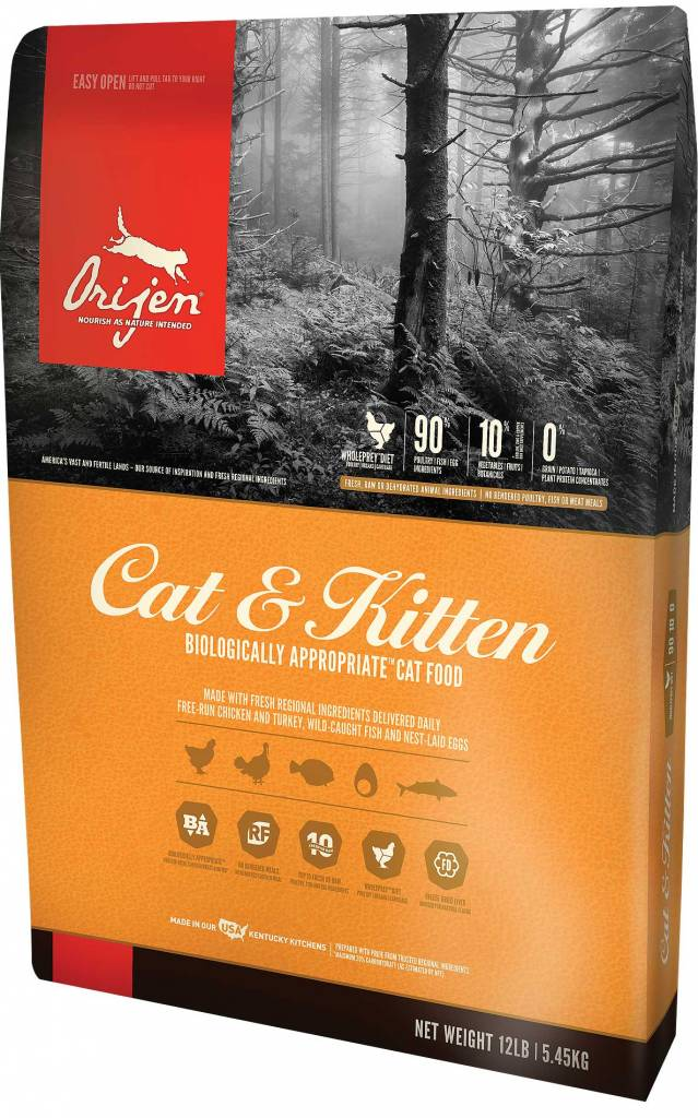 Champion Pet Foods Orijen Cat & Kitten 4lb Grain Free Dry Cat Food