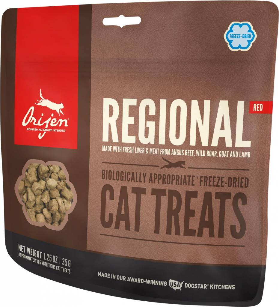 Champion Pet Foods Orijen Regional Red 1.25oz Freeze-Dried Cat Treat