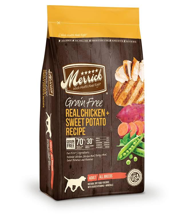 Merrick Merrick Grain Free Chicken & Sweet Poato Dog 12lb