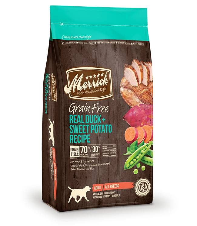 Merrick Merrick Grain Free Duck & Sweet Potato Dog 25lb