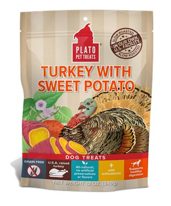 PLATO PET TREATS Plato EOS Turkey & Sweet Potato Dog Treat 12oz