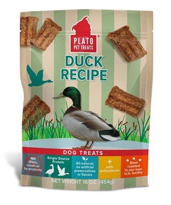 PLATO PET TREATS Plato Natural Duck Strips Dog Treat 6oz
