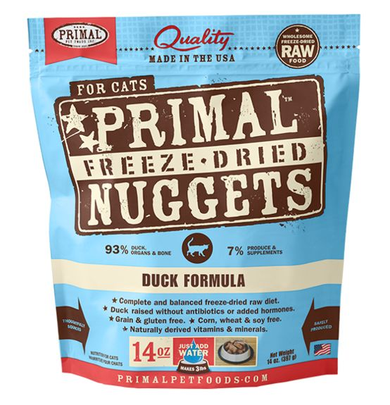 PRIMAL PET FOODS, INC. Primal Freeze Dried Duck for Cats 5.5oz